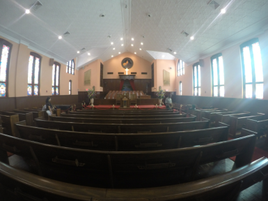 Inside Ebenezer Baptist Church